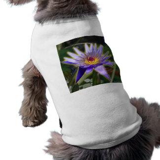Purple Water Lily Sleeveless Dog Shirt