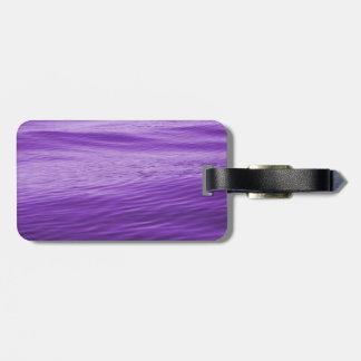 Purple Water Luggage Tag