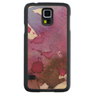 Purple Watercolor Background Carved Maple Galaxy S5 Case