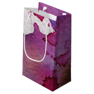 Purple Watercolor Background Small Gift Bag