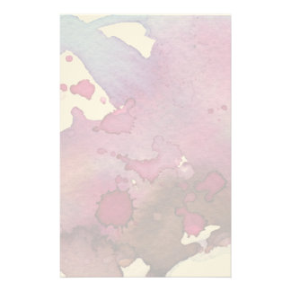 Purple Watercolor Background Stationery