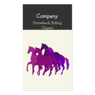 Purple Watercolor Beautiful  Horse  Racing Pack Of Standard Business Cards