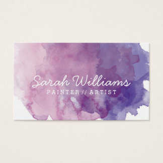 Purple Watercolor Business Card