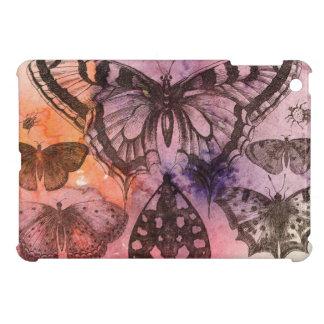 Purple Watercolor Butterfly Art Cover iPad Mini Case