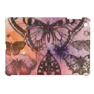 Purple Watercolor Butterfly Art Cover iPad Mini Covers