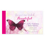 Purple Watercolor Butterfly on Pink and Yellow Pack Of Standard Business Cards