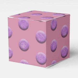 Purple Watercolor Dots Wedding Favour Box