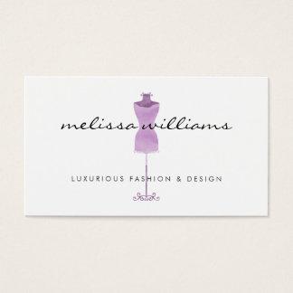 Purple Watercolor Dress Mannequin Fashion Boutique Business Card