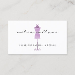 Dress boutique business cards zazzle uk purple watercolor dress mannequin fashion boutique business card reheart Gallery