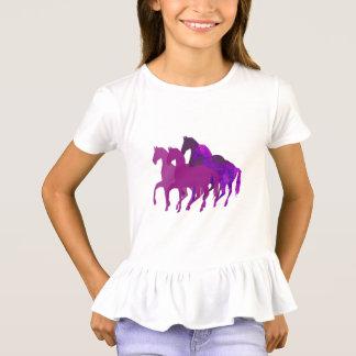 Purple Watercolor Fantasy Horse Modern Custom T-Shirt