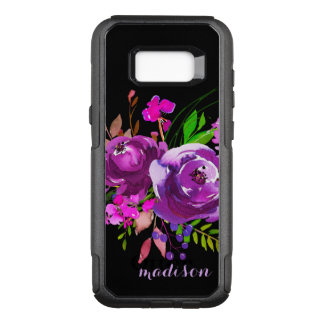 Purple Watercolor Floral Bouquet OtterBox Commuter Samsung Galaxy S8+ Case
