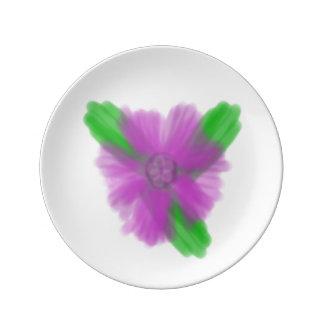 Purple Watercolor Flower Small Porcelain Plate