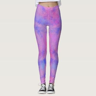 Purple Watercolor Leggings