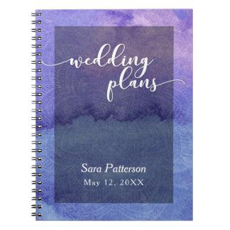 Purple Watercolor Mandala Bridal Wedding Planner 1 Notebook