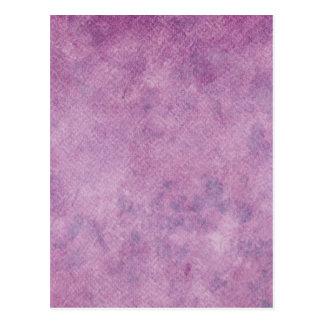 Purple Watercolor Paper Background Template Blank Postcard
