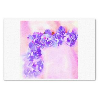 Purple Watercolor Roses for corner Decoupage Tissue Paper