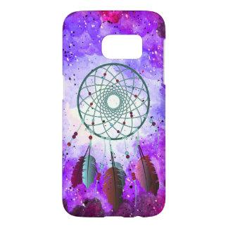 Purple Watercolor Space Nebula & Dream Catcher
