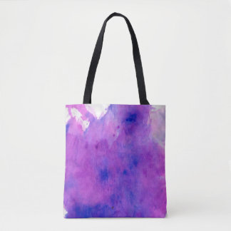 Purple watercolor splotch tote bag