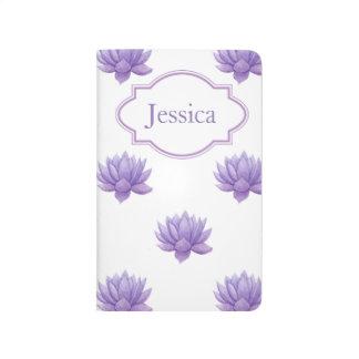 Purple Watercolor Succulent Journal