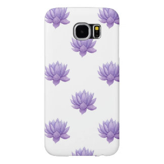 Purple Watercolor Succulent Samsung Galaxy S6 Cases