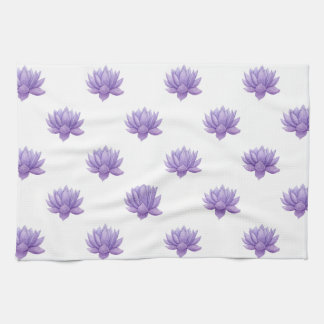 Purple Watercolor Succulent Tea Towel