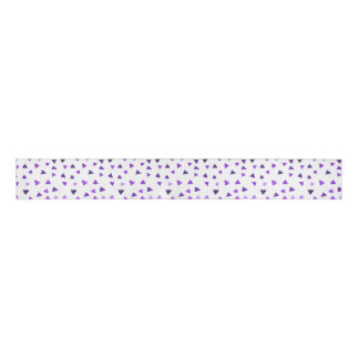 Purple Watercolor Triangles Grosgrain Ribbon