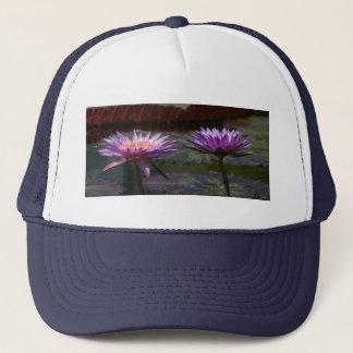 Purple Waterlilies Lotus Trucker Hat
