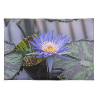 Purple waterlily place mat