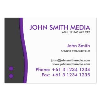 Purple Wave Business Card (Light)