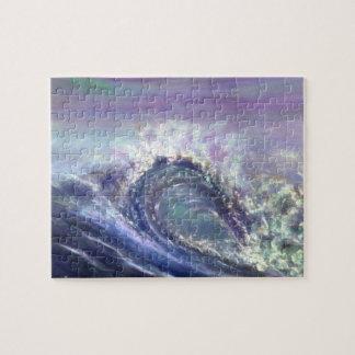 Purple wave jigsaw puzzle