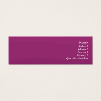 Purple Wave - Skinny Mini Business Card