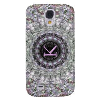 Purple Wave Star Monogram K Galaxy S4 Case