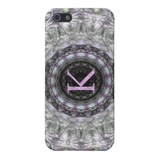 Purple Wave Star Monogram K Case For iPhone 5