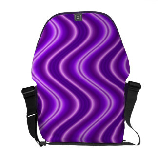 purple waves abstract commuter bags