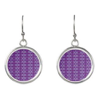 Purple Waves Earrings