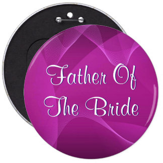 Purple Waves Father Of The Bride 6 Cm Round Badge