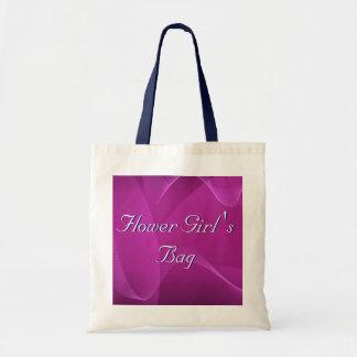 Purple Waves Flower Girl Tote Bags