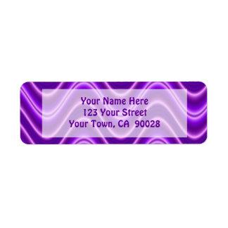 purple waves return address label