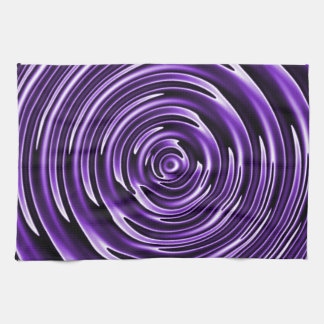 Purple Waves Towels