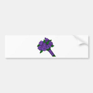 Purple Wedding Bouquet Bumper Sticker