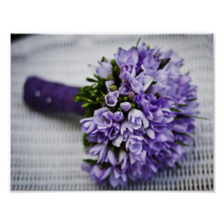 Purple Wedding Bouquet Poster