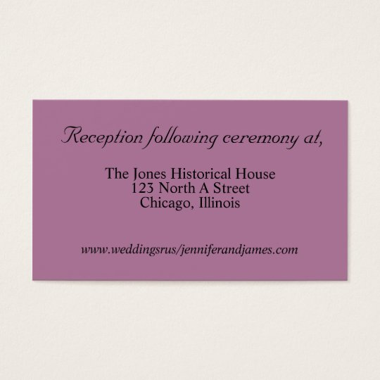 Purple Wedding enclosure cards