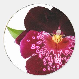 Purple Wedding Flowers Envelope Seals Round Sticker