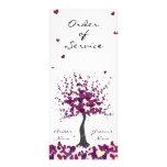 Purple Wedding Order of Service/Program Custom Rack Cards