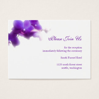 Purple Wedding Reception Enclosure Card
