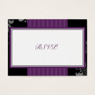 Purple Wedding RSVP Response Small Card