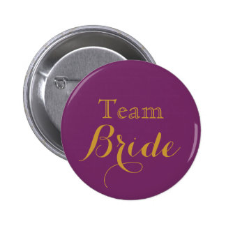 Purple Wedding Team Bride 6 Cm Round Badge
