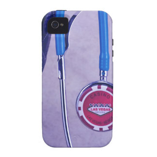 Purple Western Boot Doctor Gambling Stethoscope iPhone 4 Cases