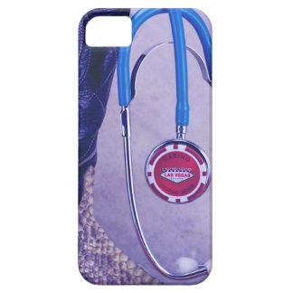 Purple Western Boot Doctor Gambling Stethoscope iPhone 5 Case
