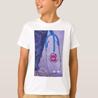 Purple Western Boot Doctor Gambling Stethoscope T-Shirt